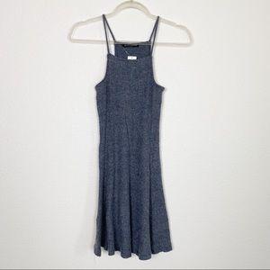 Brandy Melville Gray Ribbed Abigail Dress